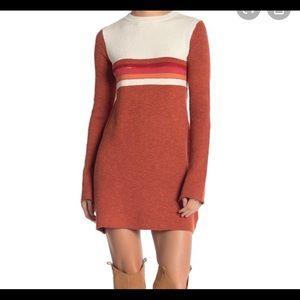 Free people color block sweater dress